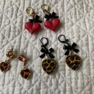 Betsy Johnson earrings (set of 3)